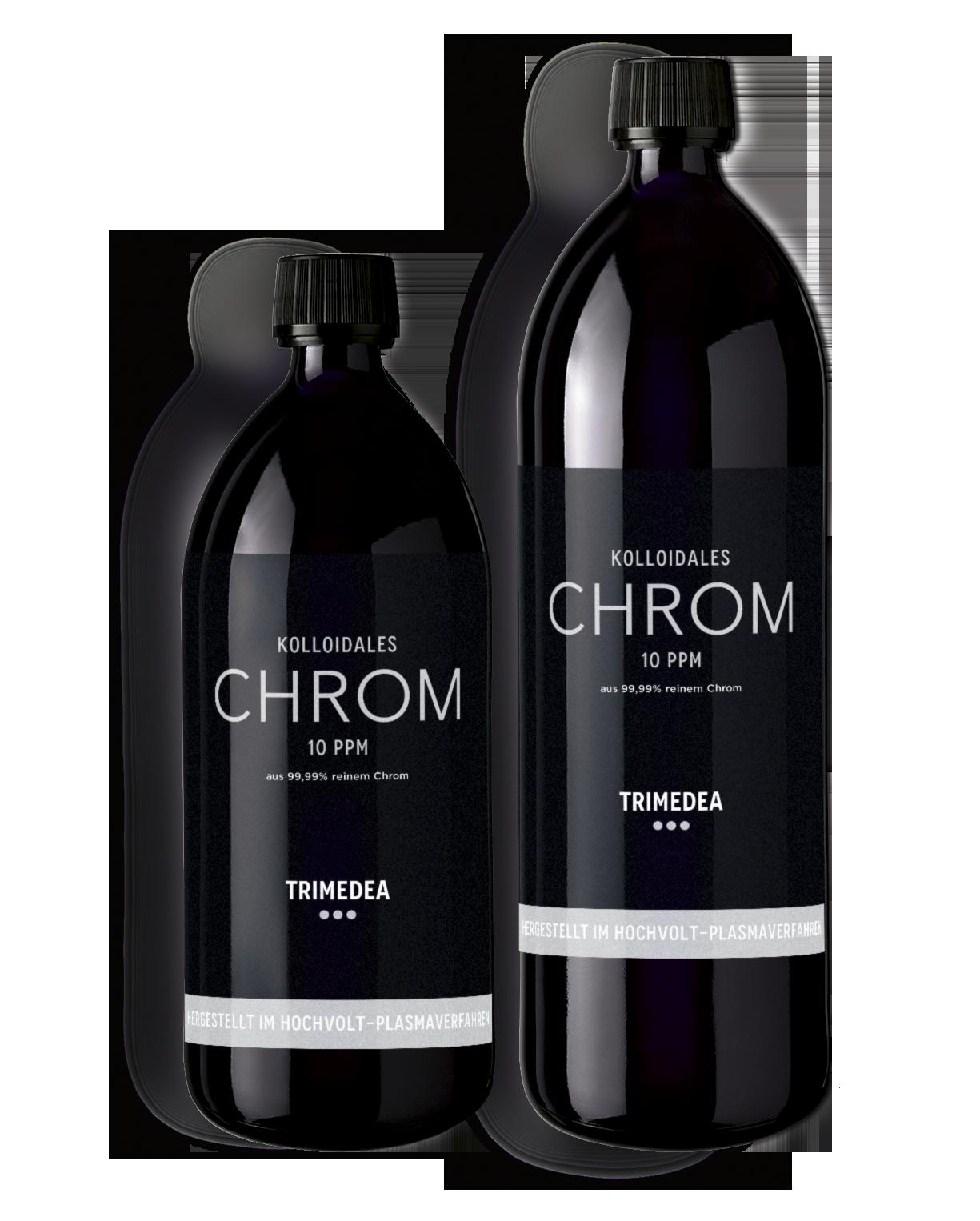 Kolloidales Chrom in Violettglasflasche 500ml und 1000ml