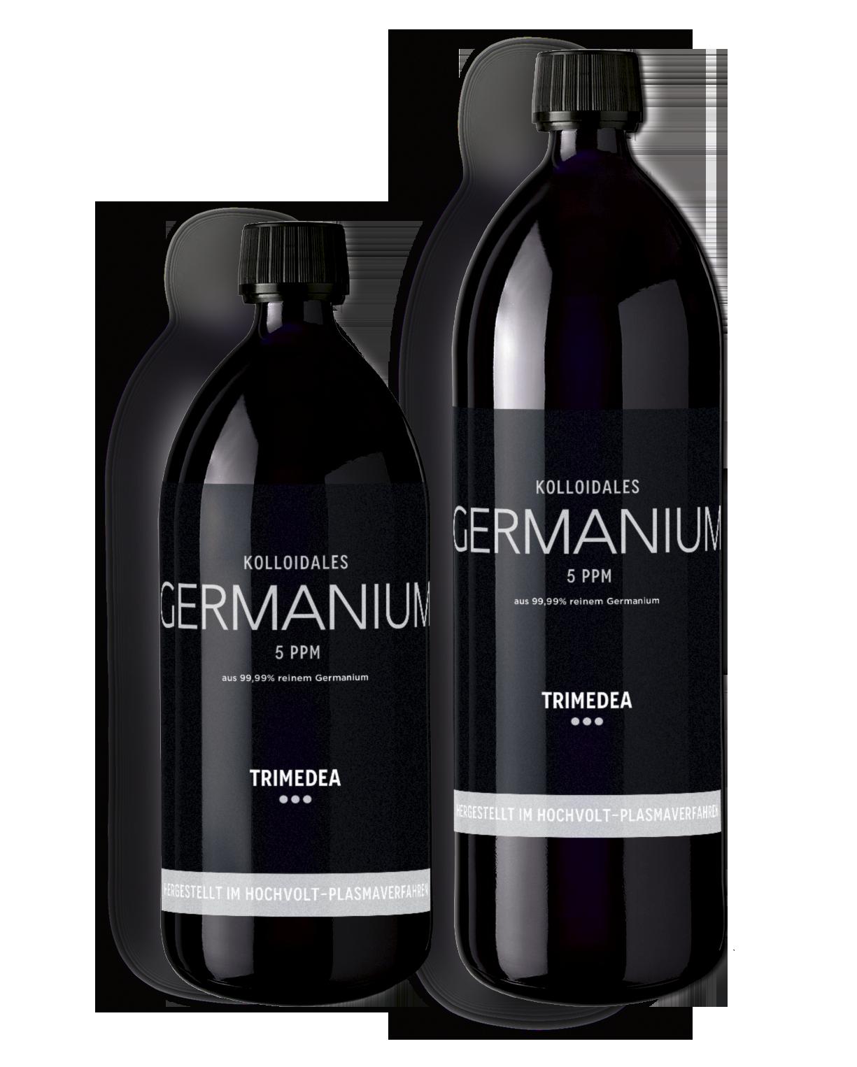 Kolloidales Germanium in Violettglasflasche 500ml und 1000ml
