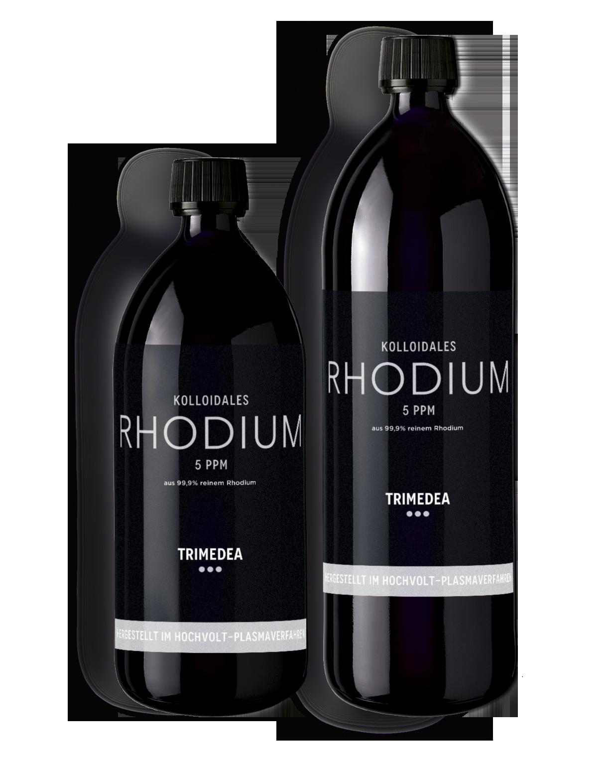 Kolloidales Rhodium in Violettglasflasche 500ml und 1000ml