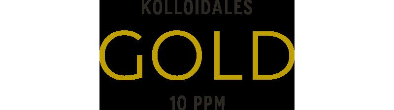 Kolloidales Gold im Hochvoltverfahren hergestellt