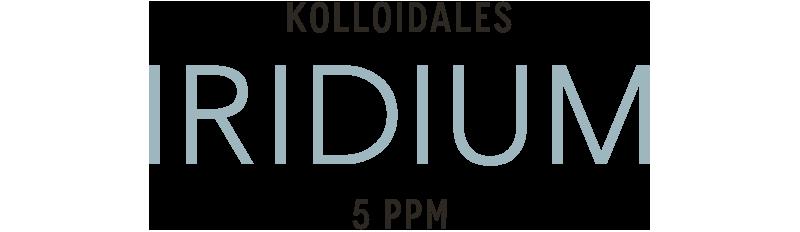 Kolloidales Iridium im Hochvolt-Plasmaverfahren hergestellt