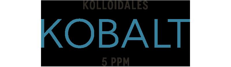 Kolloidales Kobalt t im Hochvolt-Plasmaverfahren hergestellt