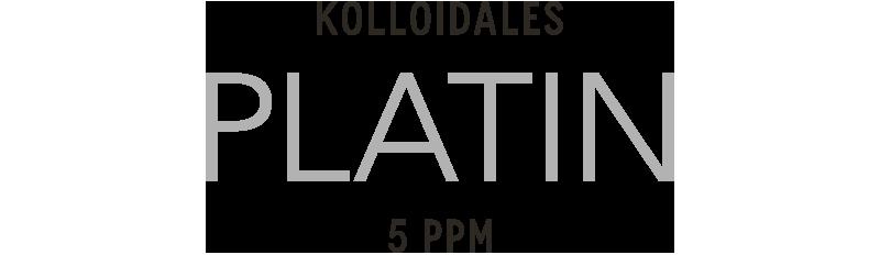 Kolloidales Platin hergestellt im Hochvolt-Plasmaverfahren