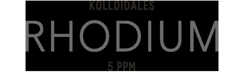 Kolloidales Rhodium im Hochvolt Plasmaverfahren hergestellt