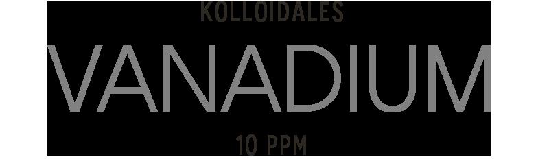 Kolloidales Vanadium im Hochvolt Plasmaverfahren hergestellt
