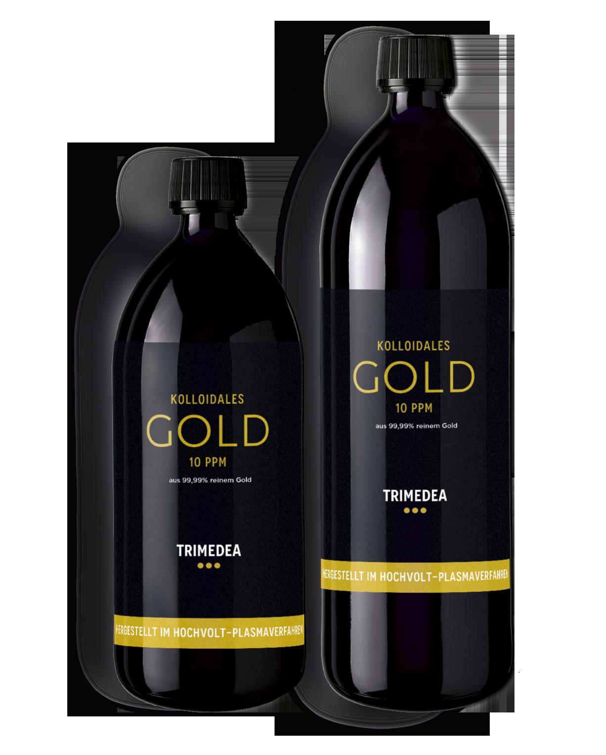 Kolloidales Gold in Violettglasflasche 100ml, 500ml und 1000ml