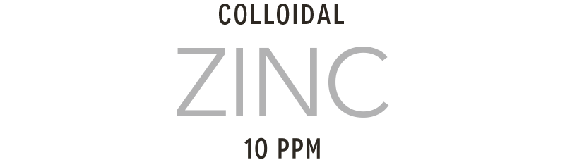 Colloidal zinc manufactured with high voltage plasma technology
